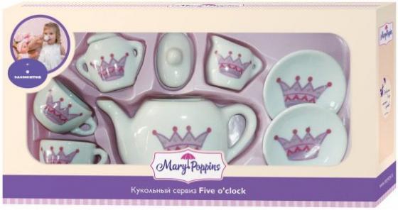 Набор посуды Mary Poppins Корона, 9 предметов фарфоровая 453016 набор посуды mary poppins бабочка 13 предметов фарфоровая 453014
