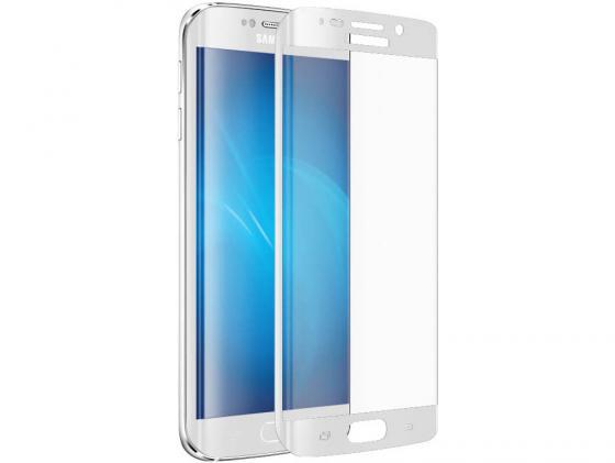Защитное стекло DF sColor-02 с цветной рамкой для Samsung Galaxy S6 Edge+ белый аксессуар защитное стекло samsung g925f galaxy s6 edge caseguru 3d 0 33mm white
