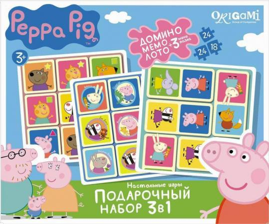 Набор для игры набор игр ОРИГАМИ 3в1 Peppa Pig подарочный набор 3в1 фиксики 00384