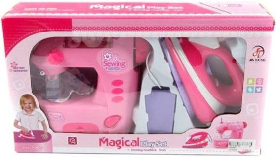 Набор бытовой техники Shantou Gepai Magical - швейная машина и утюг со светом 752ABC shantou утюг розово белый со светом и звуком 948 gepai