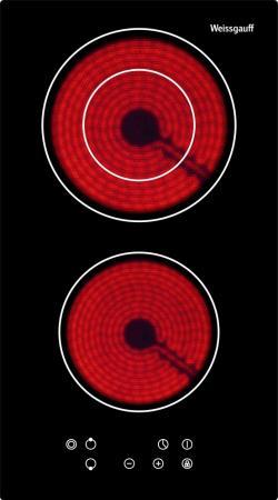 Варочная панель электрическая Weissgauff HV 312 B черный встраиваемая электрическая варочная панель weissgauff hv 670 b