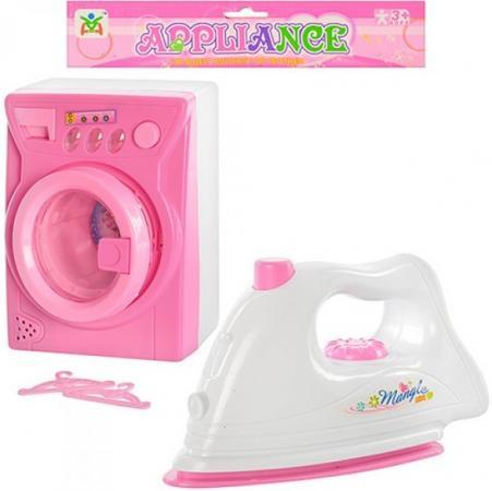 Набор бытовой техники Shantou Gepai Стиральная машина и утюг со звуком и светом LS820G7 игра shantou gepai утюг pink white 948
