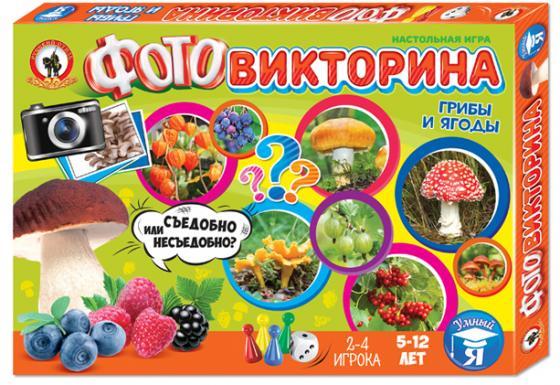 Настольная игра развивающая Русский Стиль Фотовикторина - Грибы и ягоды 3435 настольная игра развивающая русский стиль фотовикторина в мире животных 3434