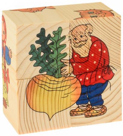 Кубики Русские деревянные игрушки Репка 4 шт Д504а