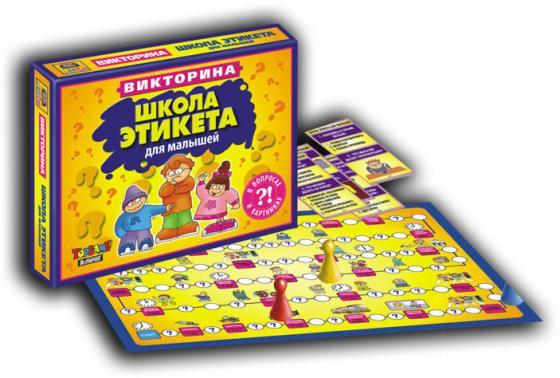 Настольная игра ходилка TOPGAME Школа этикета 1025 настольная игра topgame лото мини пазл 24 элемента 1473363