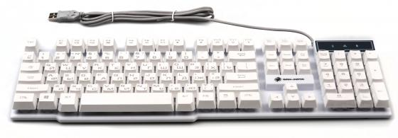Клавиатура проводная Dialog Gan-Kata KGK-15U USB белый мышь проводная dialog gan kata mgk 05u чёрный usb