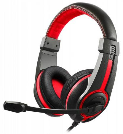 лучшая цена Гарнитура Oklick HS-L200 черно-красный