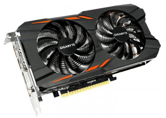 Видеокарта 4096Mb Gigabyte GeForce GTX1050 Ti PCI-E 128bit GDDR5 DVI HDMI DP GV-N105TWF2-4GD Retail видеокарта 2048mb gigabyte gt710 pci e gddr5 64bit hdmi dvi gv n710d5 2gl retail