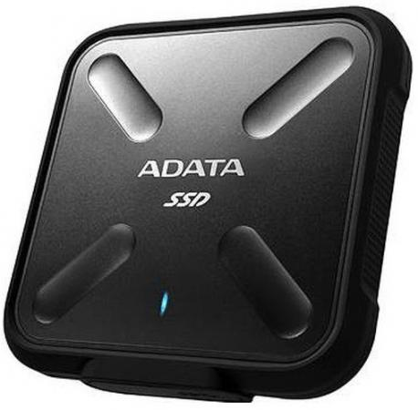 Внешний жесткий диск SSD USB3.0 256 Gb A-Data SD700 ASD700-256GU3-CBK черный внешний ssd накопитель 1 8 256gb a data sd700 asd700 256gu3 cyl ssd usb 3 1 type c желтый