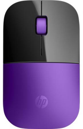 Мышь беспроводная HP Z3700 фиолетовый чёрный USB + радиоканал X7Q45AA мышь беспроводная hp z3700 синяя