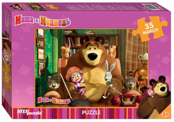 Пазл 35 элементов Step Puzzle Маша и Медведь 91211 набор step puzzle пластиковых кубиков анимаккорд 9шт маша и медведь