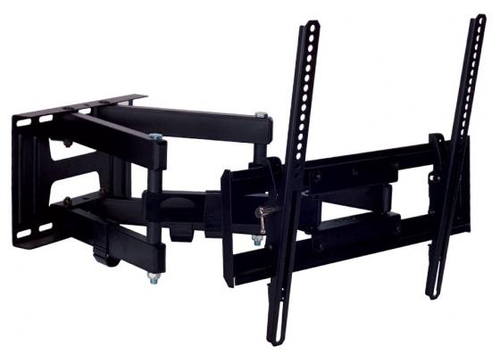 Кронштейн Kromax Pixis-L черный 22-65 настенный от стены 75-500мм наклон +3°-10° VESA 400х400мм до 50кг кронштейн kromax star 1 фиксированный кронштейн для жк и плазмы 42 70 vesa 800x500 мм макс нагр 75 кг grey
