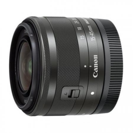 Объектив Canon EF-M STM 15-45mm f/3.5-6.3 черный 0572C005 объектив canon ef 24mm f 2 8 is usm черный