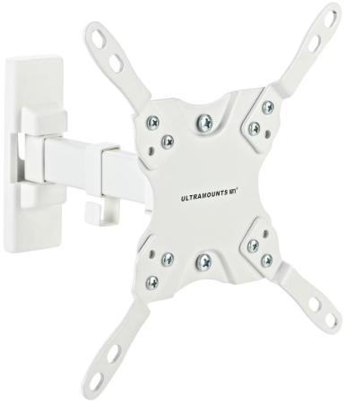 Фото - Кронштейн Ultramounts UM864w белый 13-42 настенный от стены 190мм VESA 200x200 до 20кг кронштейн ultramounts um860 черный 13 27 настенный от стены 50 180мм vesa 100x100 до 20кг