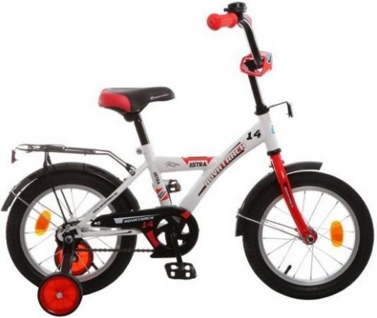 Велосипед двухколёсный Novatrack Astra 14 белый велосипед двухколёсный rich toys ba camilla 14 1s розовый kg1417