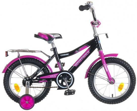 """Велосипед двухколёсный Novatrack """"Cosmic"""" 14"""" черно-фиолетовый  143COSMIC.BK5"""