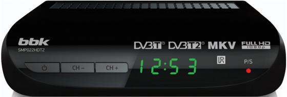 Тюнер цифровой DVB-T2 BBK SMP022HDT2 черный тюнер цифровой dvb t2 bbk smp022hdt2 черный