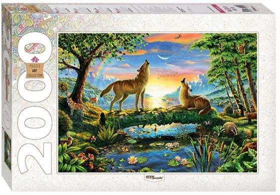 Пазл 2000 элементов Step Puzzle Art Collection - Волки 84029 пазл step puzzle развивающие паззлы союзмультфильм путешествие в мир добра в асс 76064