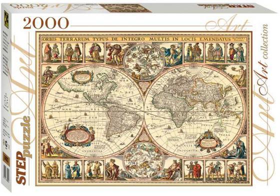 Пазл 2000 элементов Step Puzzle Art Collection Историческая карта мира 84003 step puzzle домино 55 лучших игр мира