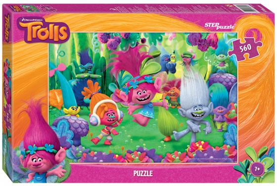 Пазл 560 элементов Step Puzzle Trolls 97044 пазл step puzzle тролли 35 элементов