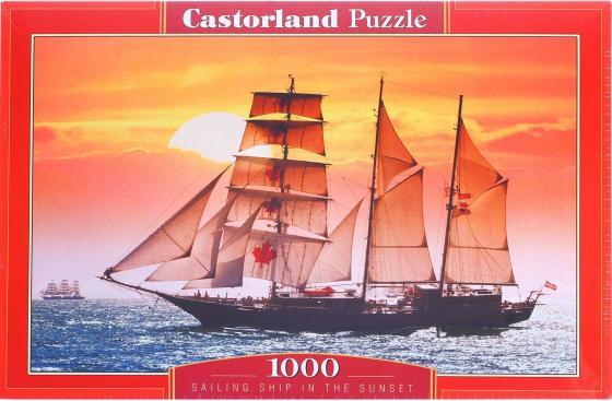 Пазл 1000 элементов Кастор Парусник на закате C-100392 пазл кастор озеро канада 1000 элементов