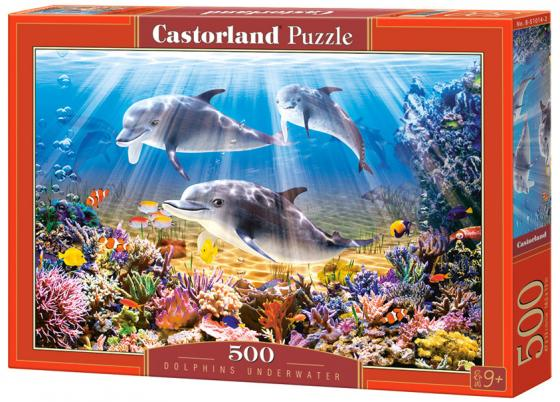Пазл 500 элементов Кастор Дельфины B-51014 пазл 500 элементов кастор ангел в саду