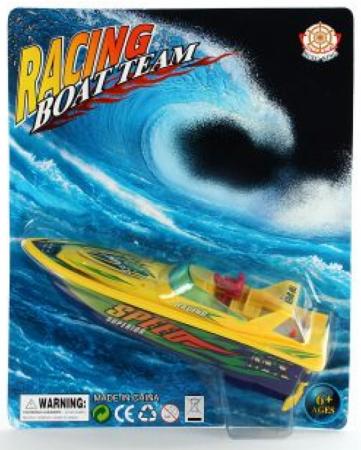 Катер на радиоуправлении Shantou Gepai Racing Boat Team - Speed желтый от 6 лет пластик 378-1 feilun ft009 2 4g 4ch water cooling high speed racing rc remote control boat