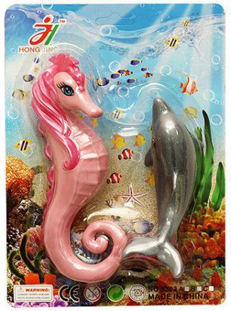 Набор фигурок Shantou Gepai Дельфин и морской конек мячи и прыгуны shantou gepai мяч морской 22 см
