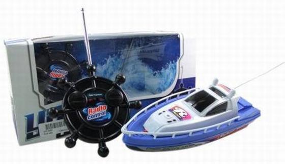 Катер на радиоуправлении Shantou Gepai Детский синий от 4 лет пластик катер на радиоуправлении shantou gepai yacht racing пластик от 3 лет цвет в ассортименте 4 канала