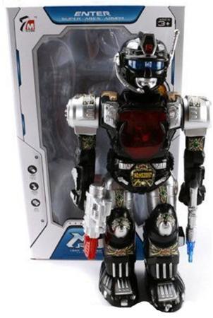 Робот электронный Shantou Gepai со звуком светящийся 7M-404 робот трансформер shantou gepai робот машина со звуком светящийся в ассортименте