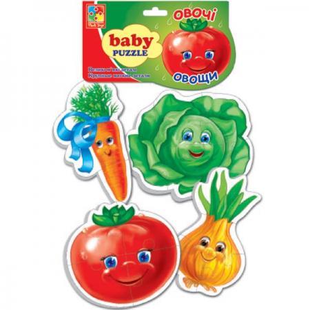 Мягкий пазл 16 элементов Vladi toys Baby puzzle Овощи VT1106-03 пазлы vladi toys пазлы мягкие baby puzzle сказки репка
