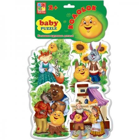 Мягкий пазл 16 элементов Vladi toys Baby puzzle Сказки Колобок  VT1106-36 vladi toys мягкие пазлы baby puzzle сказки репка