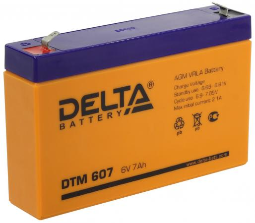 Батарея Delta DTM 607 акб delta dtm 12100 l