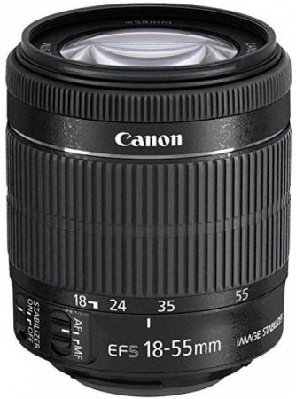 Объектив Canon EF-S IS STM 18-55мм f/3.5-5.6 черный 8114B005 canon ef s 18 135 f 3 5 5 6 is