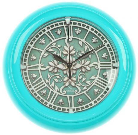 Часы настенные Вега П6-16-42 бирюзовый arte lamp a9395lm 8wg