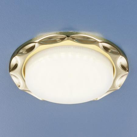 Фото - Встраиваемый светильник Elektrostandard 1064 GX53 GD золото 4690389076176 cветильник галогенный de fran встраиваемый 1х50вт mr16 ip20 зел античное золото