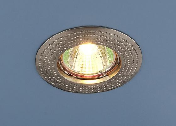 Фото - Встраиваемый светильник Elektrostandard 601 MR16 SN сатин никель 4690389011023 cветильник галогенный de fran встраиваемый 1х50вт mr16 ip20 зел античное золото