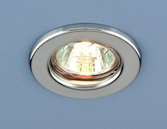 Фото - Встраиваемый светильник Elektrostandard 9210 MR16 CH хром 4690389055591 cветильник галогенный de fran встраиваемый 1х50вт mr16 ip20 зел античное золото