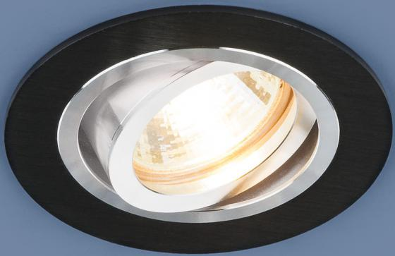 Встраиваемый светильник Elektrostandard 1061/1 MR16 BK черный 4690389095450 elektrostandard встраиваемый светильник elektrostandard 1061 2 mr16 bk черный 4690389095467