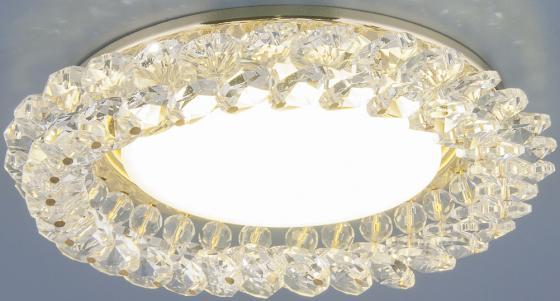 Встраиваемый светильник Elektrostandard 1063 GX53 GD/CL золото/прозрачный 4690389075674 elektrostandard точечный светильник с хрусталем elektrostandard 1063 gx53 gd cl золото прозрачный 4690389075674