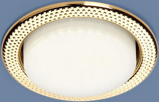 Фото - Встраиваемый светильник Elektrostandard 1066 GX53 GD золото 4690389078699 cветильник галогенный de fran встраиваемый 1х50вт mr16 ip20 зел античное золото