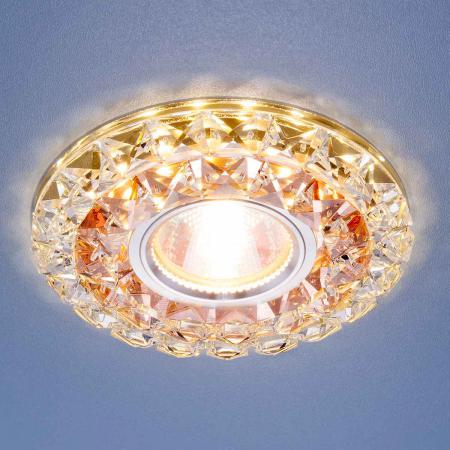Встраиваем��й светильник Elektrostandard 2170 MR16 GC/CL тонированный/прозрачный 4690389074080 аксессуар дельта 16 1800 2170 ts9