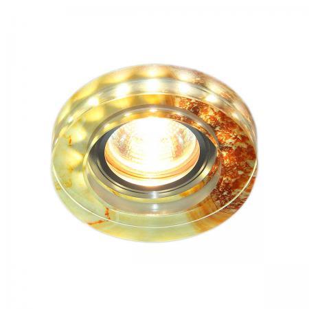 Встраиваемый светильник Elektrostandard 2190 MR16 YL желто-терракотовый 4690389083228 elektrostandard встраиваемый светильник со светодиодами elektrostandard 3020 желтая подсветка yl led 4690389030482