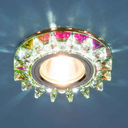 Фото - Встраиваемый светильник Elektrostandard 6037 MR16 MLT мульти/хром 4690389060694 cветильник галогенный de fran встраиваемый 1х50вт mr16 ip20 зел античное золото