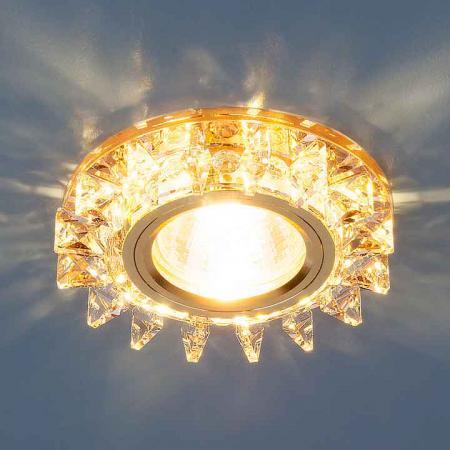 Встраиваемый светильник Elektrostandard 6037 MR16 YL/GD зеркальный/золото 4690389060670 elektrostandard встраиваемый светильник со светодиодами elektrostandard 3020 желтая подсветка yl led 4690389030482