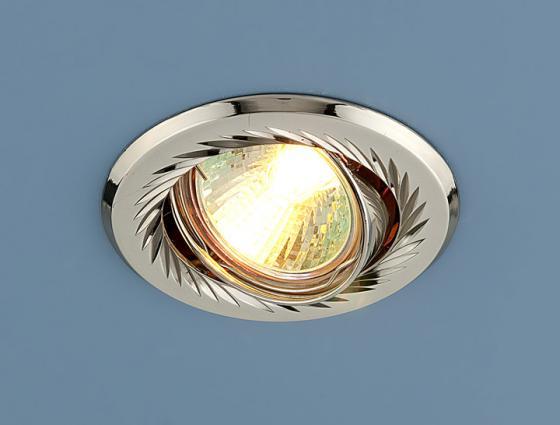 Встраиваемый светильник Elektrostandard 704 CX MR16 PS/N перл. серебро/никель 4607176196054 elektrostandard точечный светильник elektrostandard 704 cx mr16 ps n перл серебро никель 4690389066856