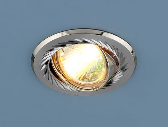 Встраиваемый светильник Elektrostandard 704 CX MR16 SN/N сатин-никель/никель 4607138147780 встраиваемый светильник elektrostandard 704 cx mr16 ps n перл серебро никель 4607176196054
