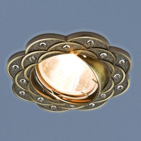 Фото - Встраиваемый светильник Elektrostandard 8006 MR16 SB бронза 4690389060588 cветильник галогенный de fran встраиваемый 1х50вт mr16 ip20 зел античное золото