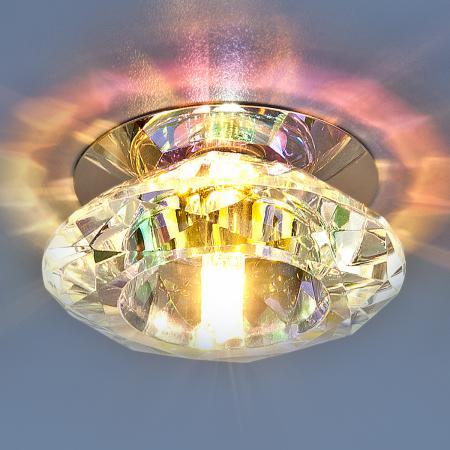 Встраиваемый светильник Elektrostandard 8016 G4 CH/Сolor хром/перламутр 4607176195552