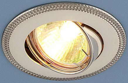 Встраиваемый светильник Elektrostandard 870 MR16 PS/N перл. серебро/никель 4690389007231 elektrostandard точечный светильник elektrostandard 704 cx mr16 ps n перл серебро никель 4690389066856